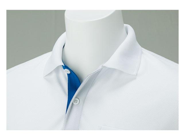 4.4ozドライレイヤードポロシャツ 画像 襟